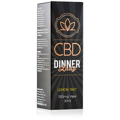 Dinner Lady CBD Lemon Tart Vape Liquid 500mg