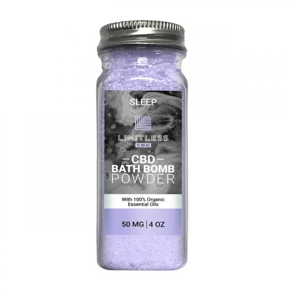Limitless Sleep CBD Bath Bomb Powder 50mg