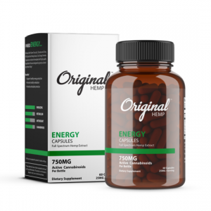 Original Hemp Energy Full Spectrum Hemp Capsules 750mg