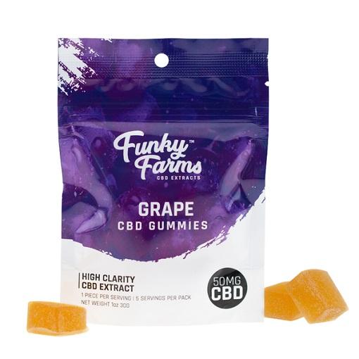 Funky Farms Grape CBD Gummies 50MG