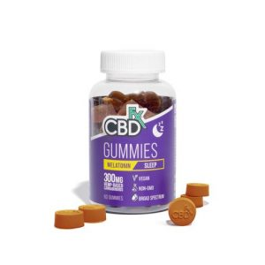 CBDfx Broad Spectrum CBD Gummies Sleep with Melatonin 300mg