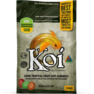 Koi Full Spectrum Hemp Extract CBD Tropical Fruit Soft Sour Gummies