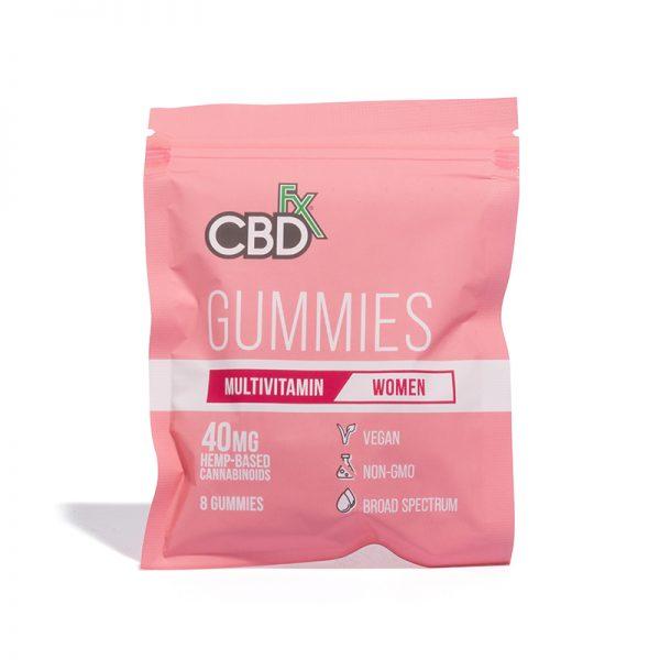 CBDfx Broad Spectrum CBD Gummies multivitamin for women 40mg