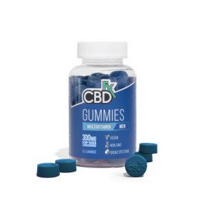 CBDfx Broad Spectrum CBD Gummies multivitamin for Men 300mg