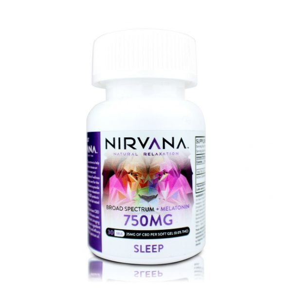 Nirvana Sleep CBD Gel Capsules-750mg