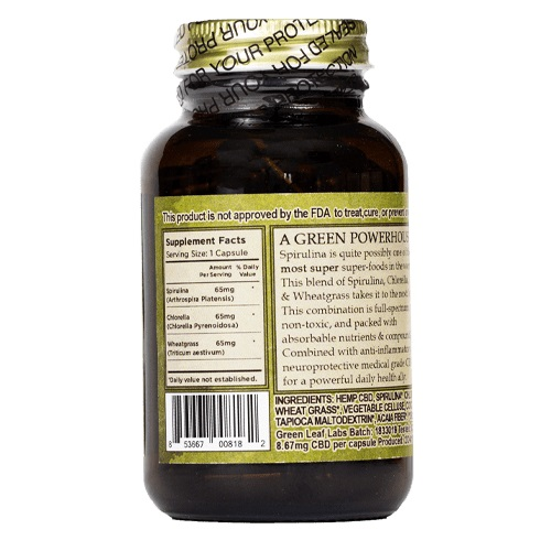 The Brothers Apothecary Super Greens CBD Capsules- 728mg