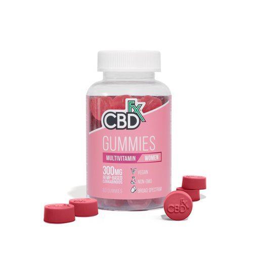 CBDfx Broad Spectrum CBD Gummies multivitamin for women 300mg