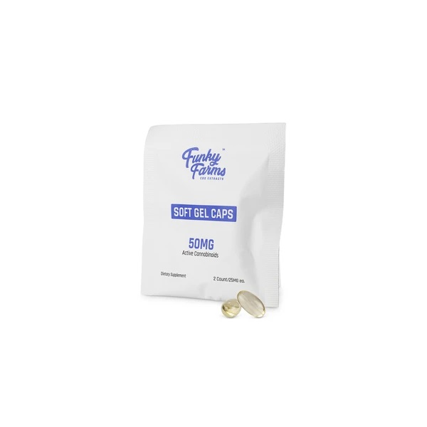 Funky Farms Daily Dose CBD Gel Caps 50MG (2 Capsules)