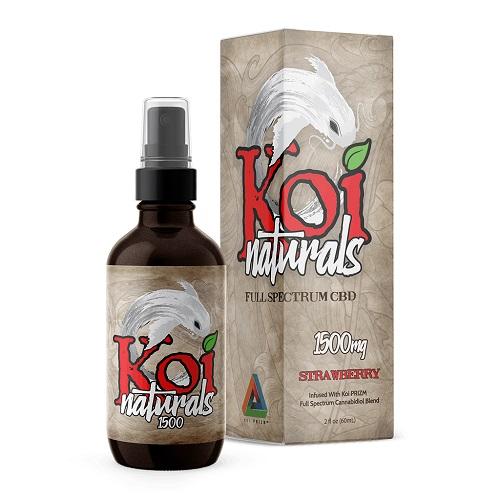 Koi Naturals Strawberry Full Spectrum Hemp Extract CBD Oil Tincture 1500mg