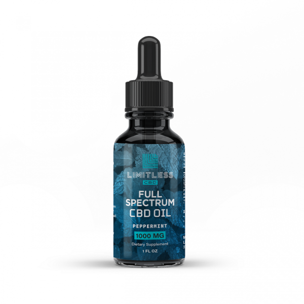Limitless Full Spectrum Peppermint CBD Oil 1000mg