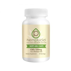 Hemplucid Full Spectrum CBD Soft-Gel Capsules 50mg