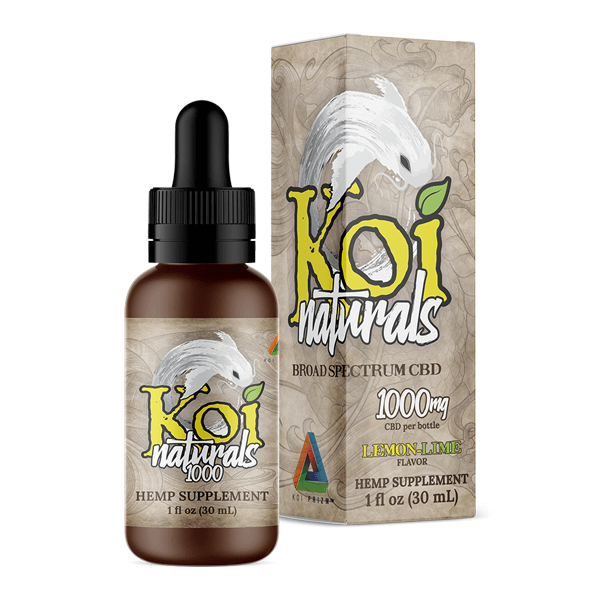 Koi Naturals Lemonlime Full Spectrum Hemp Extract CBD Oil Tincture 1000mg