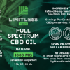 Limitless CBD Full Spectrum Oil Tincture 1oz