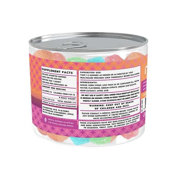 Mint Wellness CBD Infused Gummy Chews - Assorted Mix