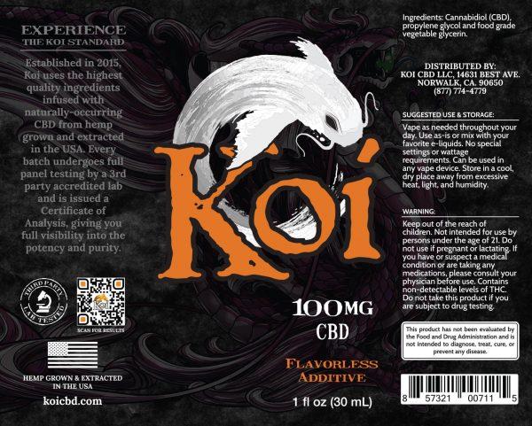 Koi CBD Vape Juice - White - 100 mg - Box Artwork