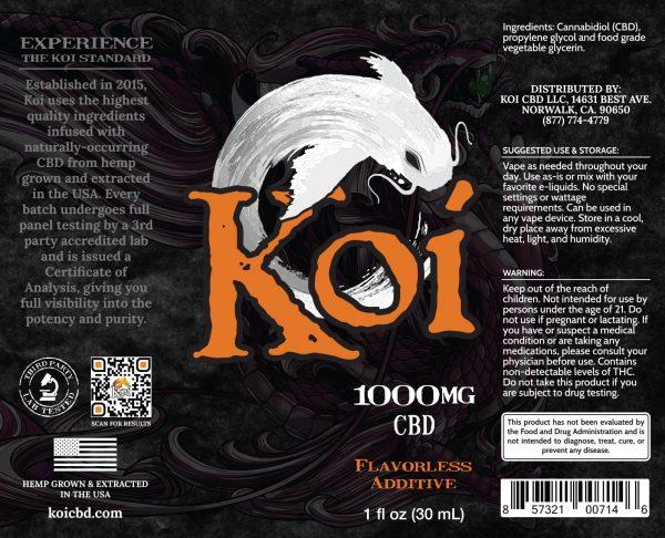Koi CBD Vape Juice - White - 1000 mg - Box Artwork