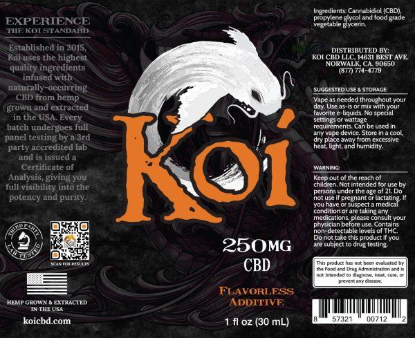 Koi CBD Vape Juice - White - 250 mg - Box Artwork