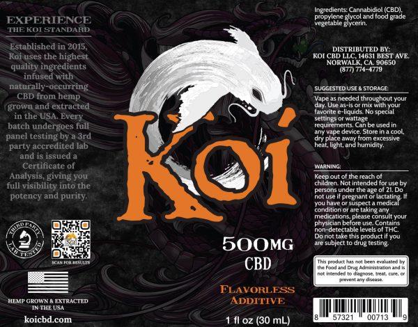Koi CBD Vape Juice - White - 500 mg - Box Artwork
