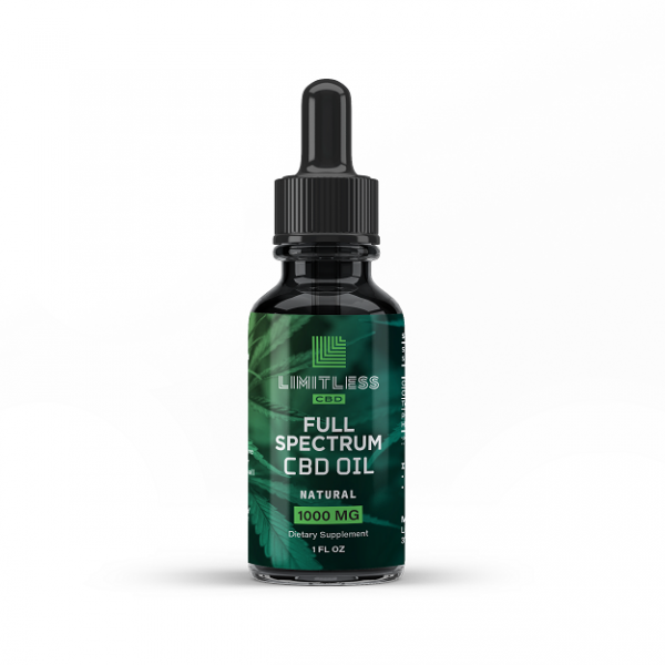Limitless Full Spectrum Natural CBD Oil 1000mg