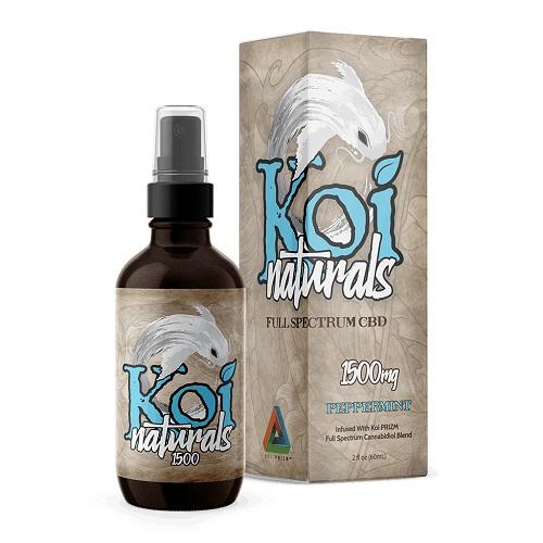 Koi Naturals Peppermint Full Spectrum Hemp Extract CBD Oil Tincture 1500mg