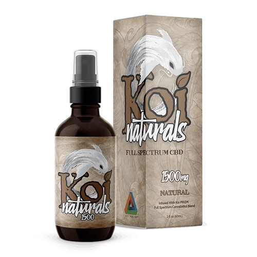 Koi Naturals Natural Full Spectrum Hemp Extract CBD Oil Tincture 1500mg