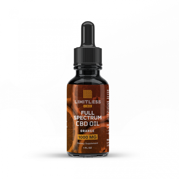 Limitless Full Spectrum Orange CBD Oil 1000mg