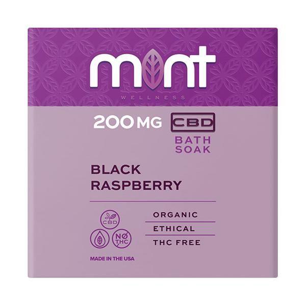 Mint wellness CBD Bath Soak Black Raspberry 200mg