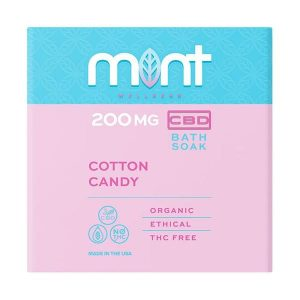 Mint wellness CBD Bath Soak Cotton Candy 200mg