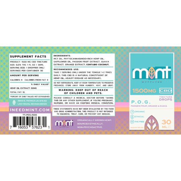 Mint wellness CBD POGTincture 30ml