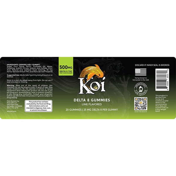 Koi Delta 8 Lime Gummies