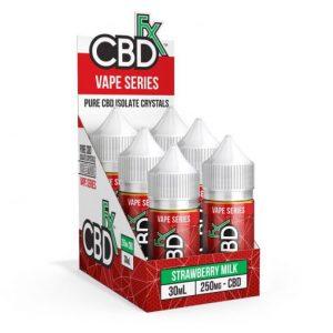 CBDfx CBD Vape Juice Strawberry Milk 30mL