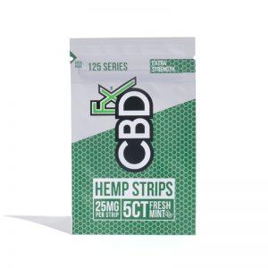 CBDfx Sublingual Hemp Strips Fresh Mint