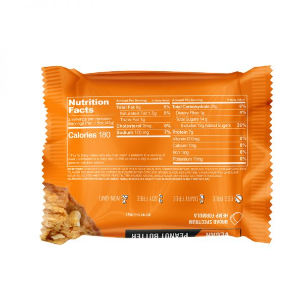 CBDfx Vegan Protein Broad Spectrum Hemp Cookies 20MG