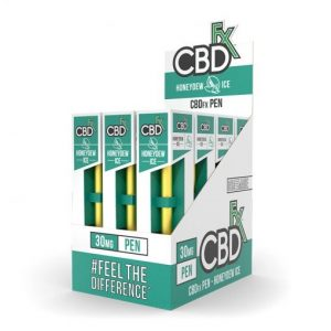 CBDfx Broad Spectrum CBD Disposable Vape Pen Honeydew Ice 30MG