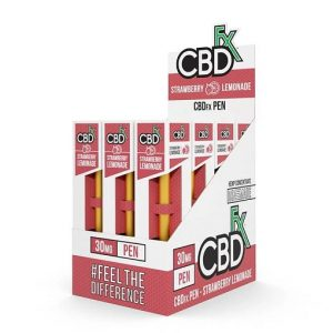CBDfx Broad Spectrum CBD Disposable Vape Pen Strawberry Lemonade 30MG