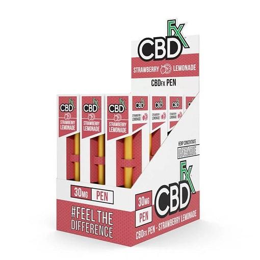 CBDfx Broad Spectrum CBD Disposable Vape Pen Strawberry Lemonade 30MG