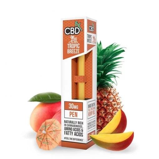CBDfx Broad Spectrum CBD Disposable Vape Pen Tropic Breeze 30MG