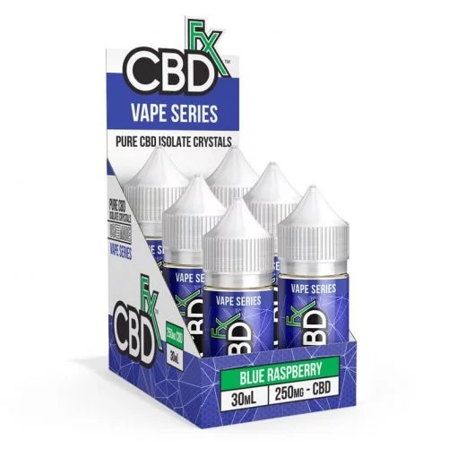 CBDfx CBD Vape Juice Blue Raspberry 30mL