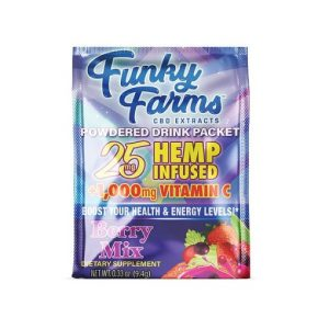 Funky Farms CBD Extracts Berry Mix Powdered Drink Packet 25MG