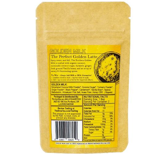 The Brothers Apothecary Golden Milk Hemp CBD Turmeric Latte
