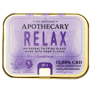 The Brothers Apothecary Relax Hemp CBD Flower Smoking Blend