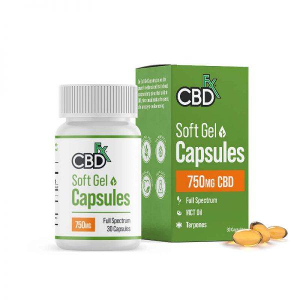 CBDfx Full Spectrum CBD Gel Capsules