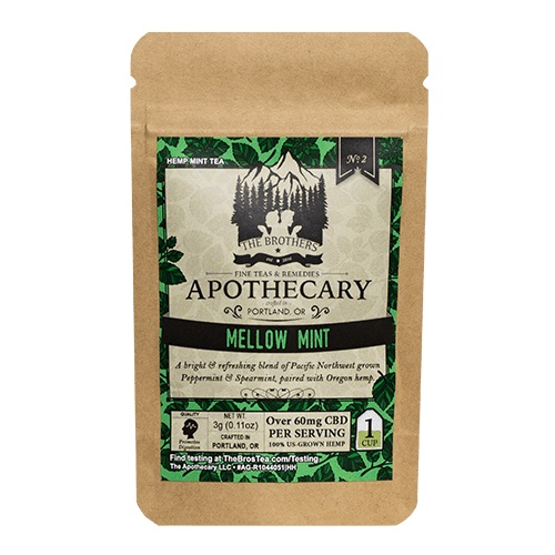 The Brothers Apothecary Mellow Mint Hemp CBD Tea
