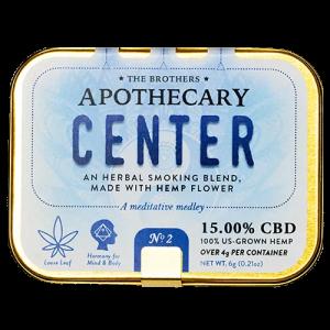 The Brothers Apothecary Center Hemp CBD Flower Smoking Blend