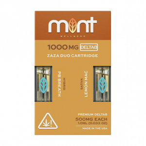 Mint Wellness PB Breath & Lemon Mac Zaza DUO Delta-8 Cartridges