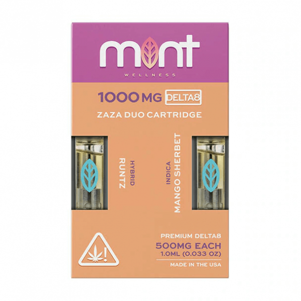 Mint Wellness Runtz & Mango Sherbet Zaza DUO Delta-8 Cartridges