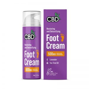 CBDfx Lavender 500mg CBD Foot Cream