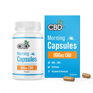 CBDfx Morning AM 900mg CBD & CBG Capsules