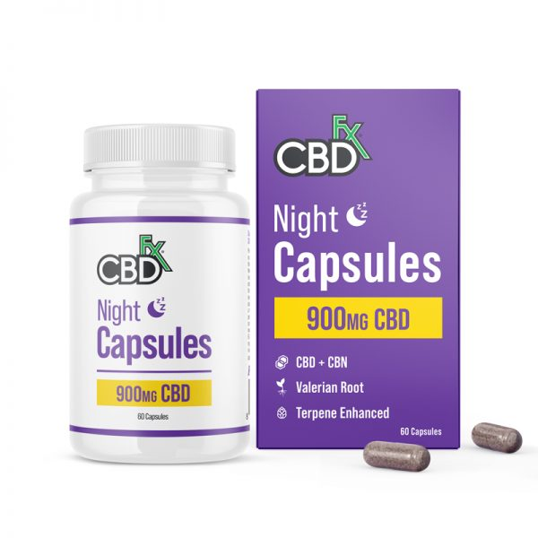 CBDfx Night PM 900mg CBD & CBN Capsules