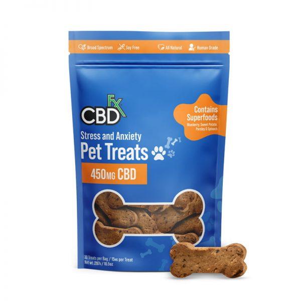 CBDfx Stress & Anxiety 450mg Pet Treats